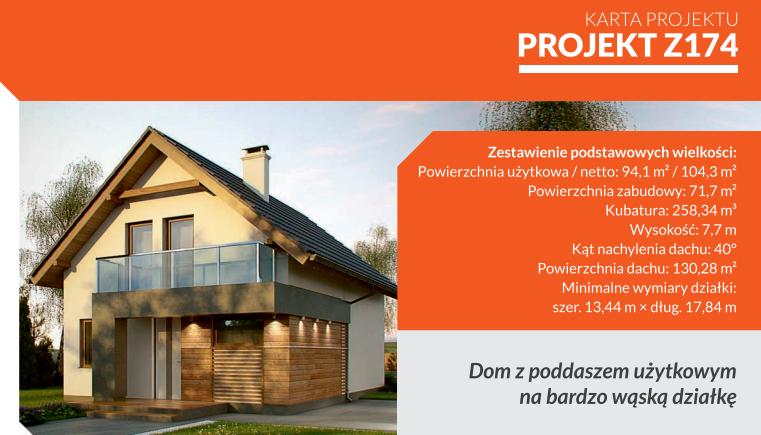 Z174: tani dom z poddaszem użytkowym