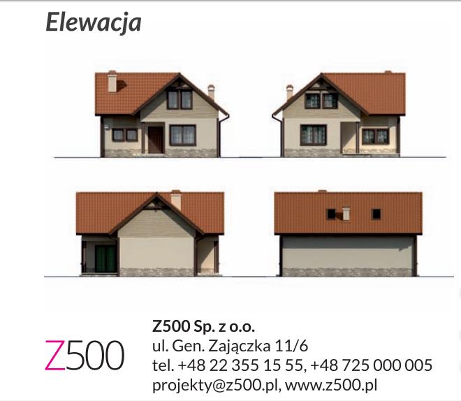 Domek norweski Z37 - elewacja