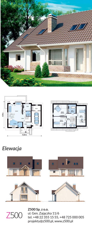 nowoczesny projekt domu - Z107