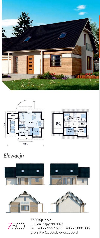 nowoczesny projekt domu drewnianego - z114 gl