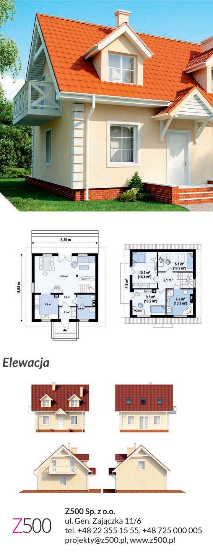 Tradycyjny projekt domu drewnianego - urokliwy dom Z4