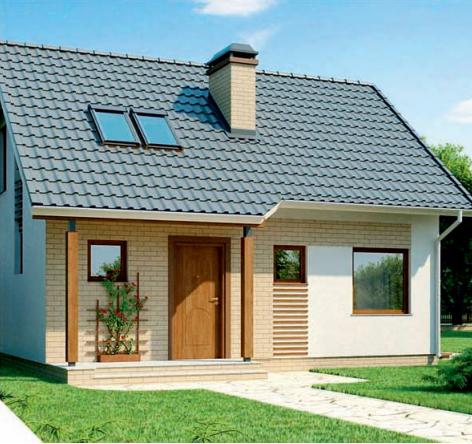 Drewniany dom szkieletowy Z71