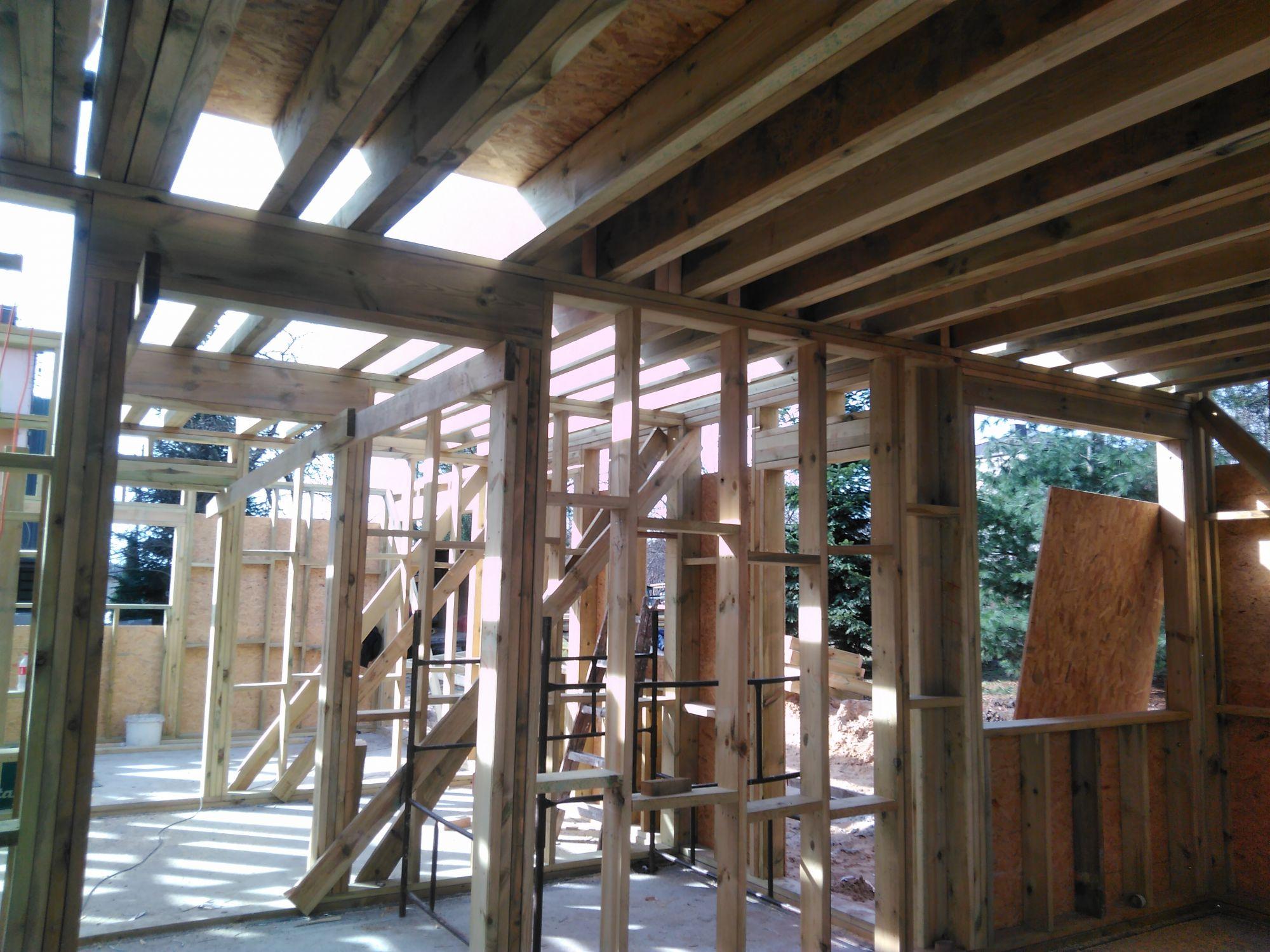 domy w technologii szkieletowej - budowa
