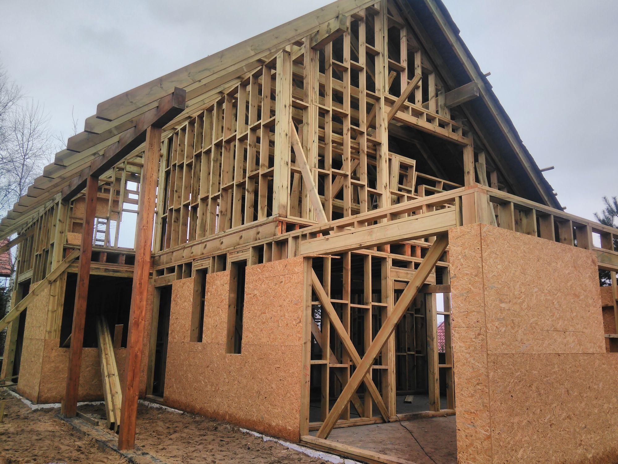 Całoroczne domki drewniane - szkielet