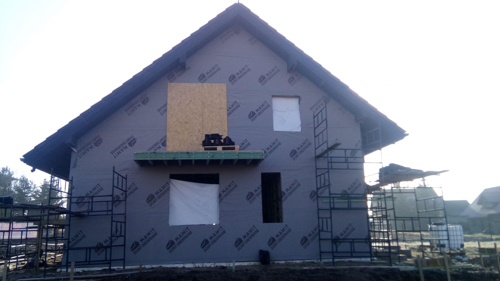 dom z drewna - budowa