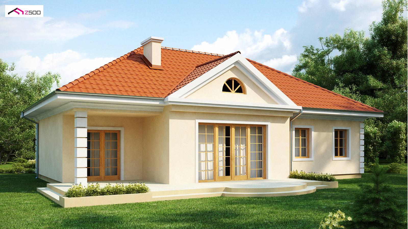 projekty domów drewnianych szkieletowych z2